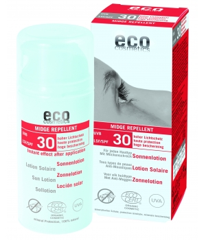 Eco Cosmetics Lotion Solaire indice 30 Anti Moustiques 100ml