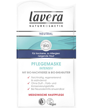 Lavera Masque visage intensif Neutral 10ml