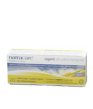 Natracare 20 Tampons normaux sans applicateur en coton bio