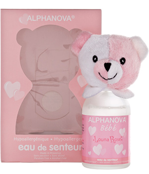 parfum bebe louna rose pour filles alphanova 100ml. Black Bedroom Furniture Sets. Home Design Ideas