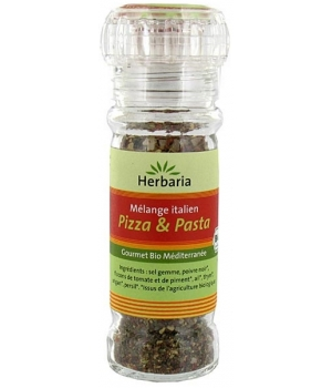 Herbaria Pizza et Pasta Moulin à épices 50g