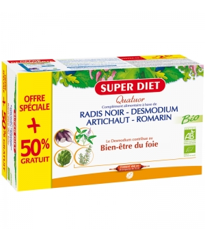 Super Diet Quatuor Desmodium Digestion Bio 20+10 Ampoules