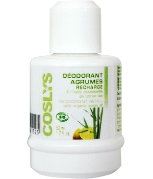 Coslys Recharge du déodorant roll on aux Agrumes 50ml