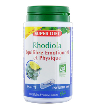 SuperDiet Rhodiola Equilibre Emotionnel et Physique 90 gélules
