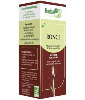 Herbalgem Gemmobase Ronce bio Flacon compte gouttes 50ml