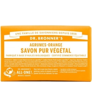 Dr Bronners Savon solide aux Agrumes Orange