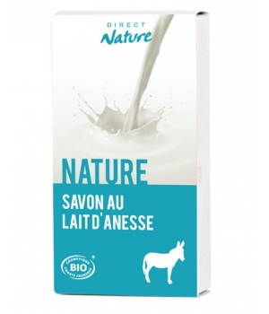 Direct Nature Savonnette au lait d'ânesse Nature 100g