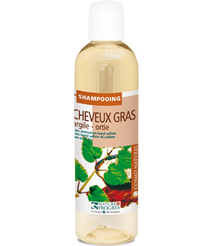 Cosmo Naturel Shampoing cheveux gras Argile ortie 250ml