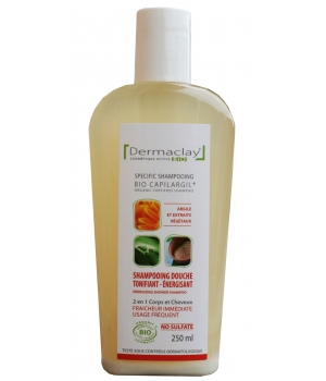 Dermaclay  Shampoing Douche Tonifiant Energisant 250ml