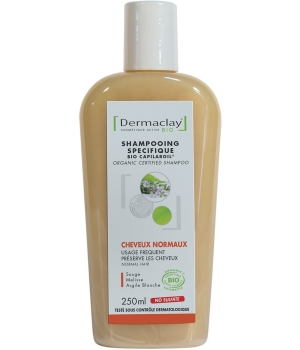 Dermaclay  Shampoing usages fréquents Argile blanche 250ml