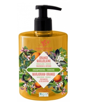 Cosmo Naturel Shampooing douche Marjolaine Orange 500ml