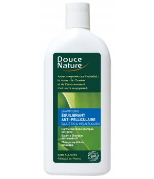 Douce Nature Shampooing Equilibrant anti pelliculaire Sauge Tea Tree 300ml