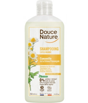 Douce Nature Shampooing Reflets Cheveux Blonds Avoine Camomille 300ml