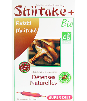 Super Diet Shiitake Plus le booster des défenses 20 ampoules de 15ml