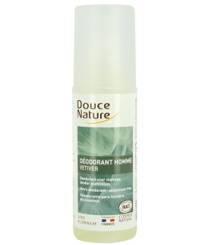 Douce Nature Spray Déodorant Homme au Vétiver Bio 125ml