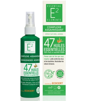 Essential Elements Spray Naturel Aérien Assainissant aux 47 Huiles Essentielles 200ml