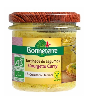 Bonneterre Tartinade de légumes bio courgette curry 135g