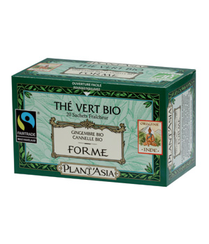 Plant Asia Thé vert Forme Gingembre Cannelle 20 sachets 36g