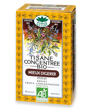 Romon Nature Tisane triple concentration Mieux digérer 20 sachets 36g