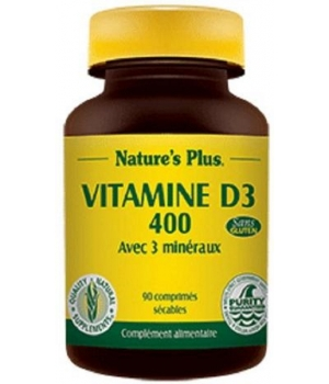 Nature's Plus Vitamine D3 400  90 comprimés